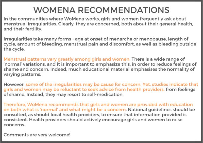 Womena What Are Menstrual Irregularities Womena